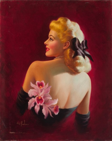 Glamour Pin-Up with Pink Orchids.jpg